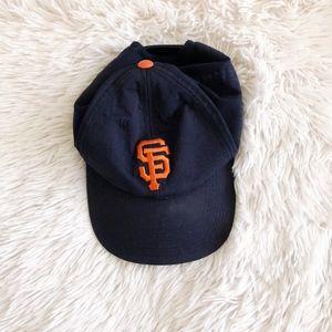 SF GIANTS black+orange OS adjustable baseball hat